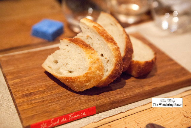 Fresh baked bread with lardo