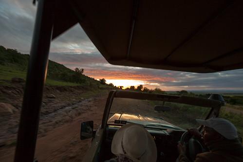sunrise dawn kenya safari masaimara