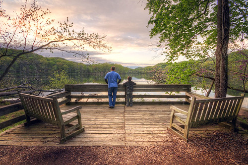 morning family lake nature sunrise nashville tennessee father watching son together radnor beinginnature
