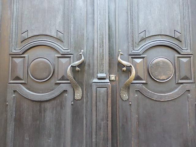 Peacock door handles