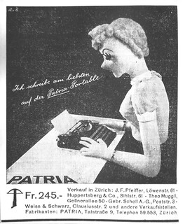 Patria portable typewriter | by shordzi