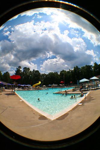 summer sky cloud sun fish eye pool swim project photo day shine 365