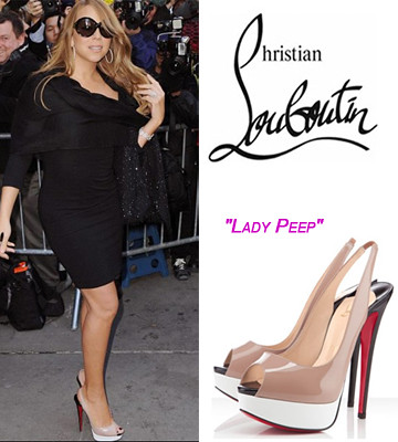 best website f6fc8 21d51 Christian-Louboutin-Lady-Peep-Sling-150mm-Nude-White-4 | Flickr