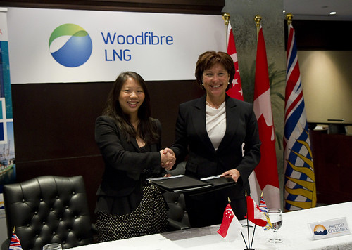 Commitment between BC & Woodfibre advances LNG   by BC Gov Photos