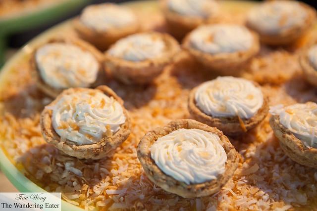 Mini coconut cream tarts by Magnolia Bakery