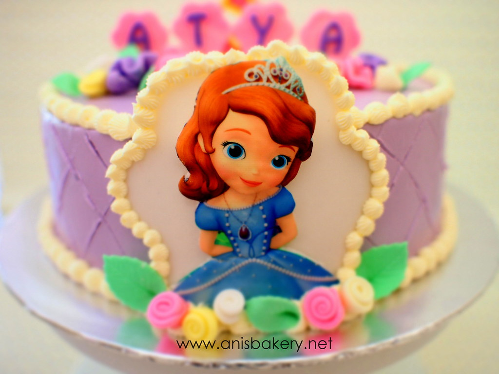 Incredible Sofia The First Birthday Cake A Photo On Flickriver Funny Birthday Cards Online Fluifree Goldxyz