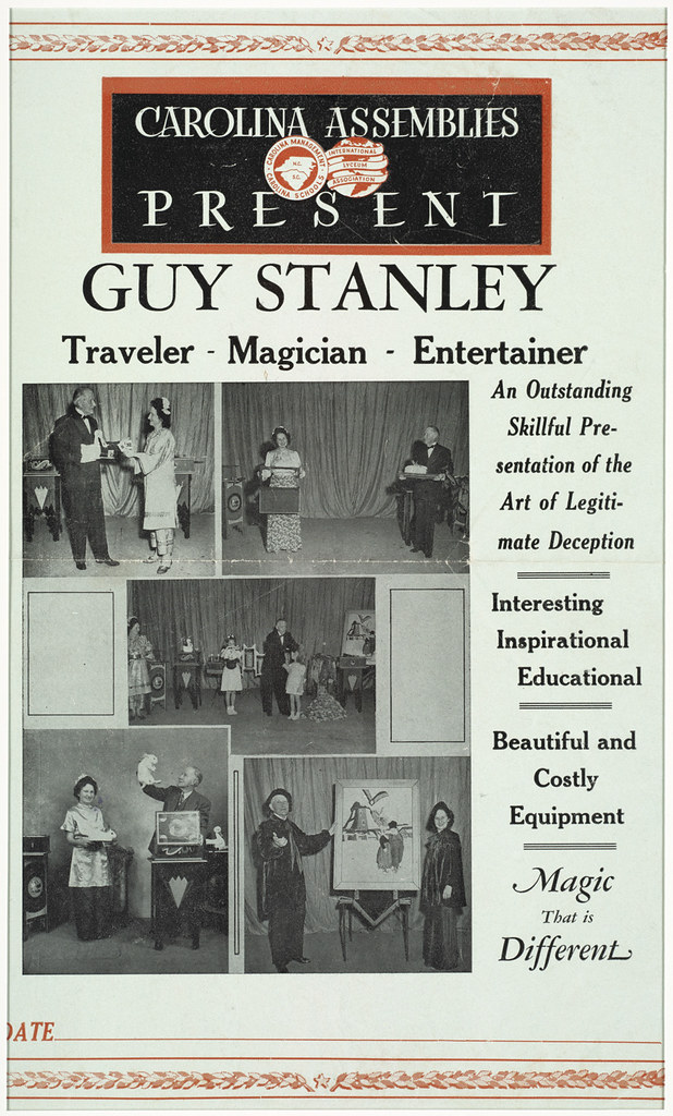 Carolina Assemblies present Guy Stanley : Traveler - magician - entertainer