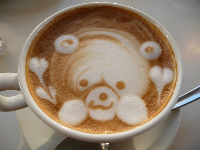 A seal in my coffee cup!