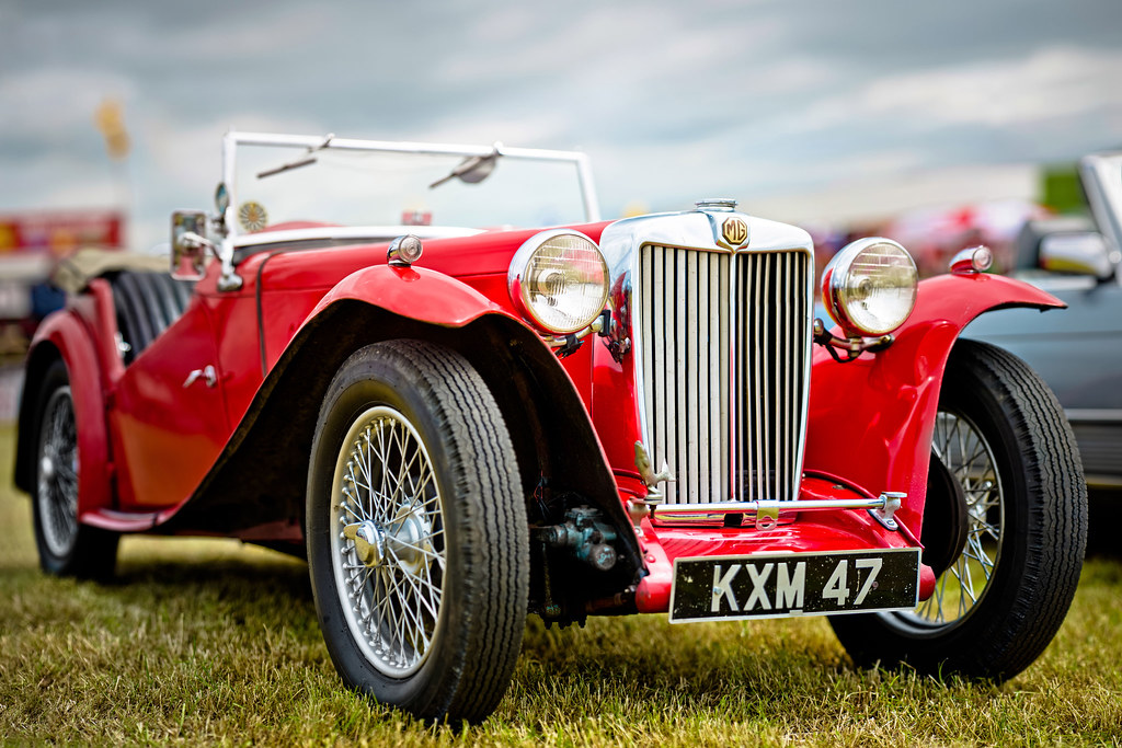 An old MG  (1949 MG TC Midget 1250cc) | While at the campsi