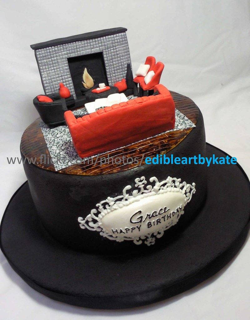 Magnificent Interior Design Cake Birthday Lady Is An Interior Designer Flickr Funny Birthday Cards Online Fluifree Goldxyz