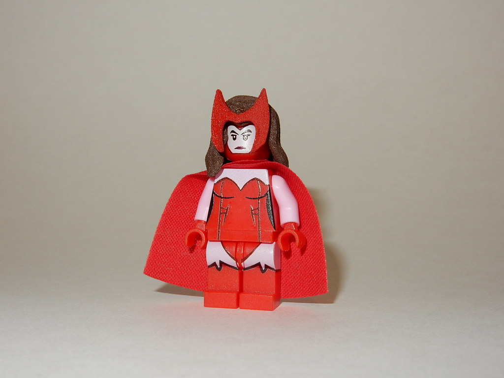 Marvel Scarlet Witch Front (3D Printed and Machine Printed