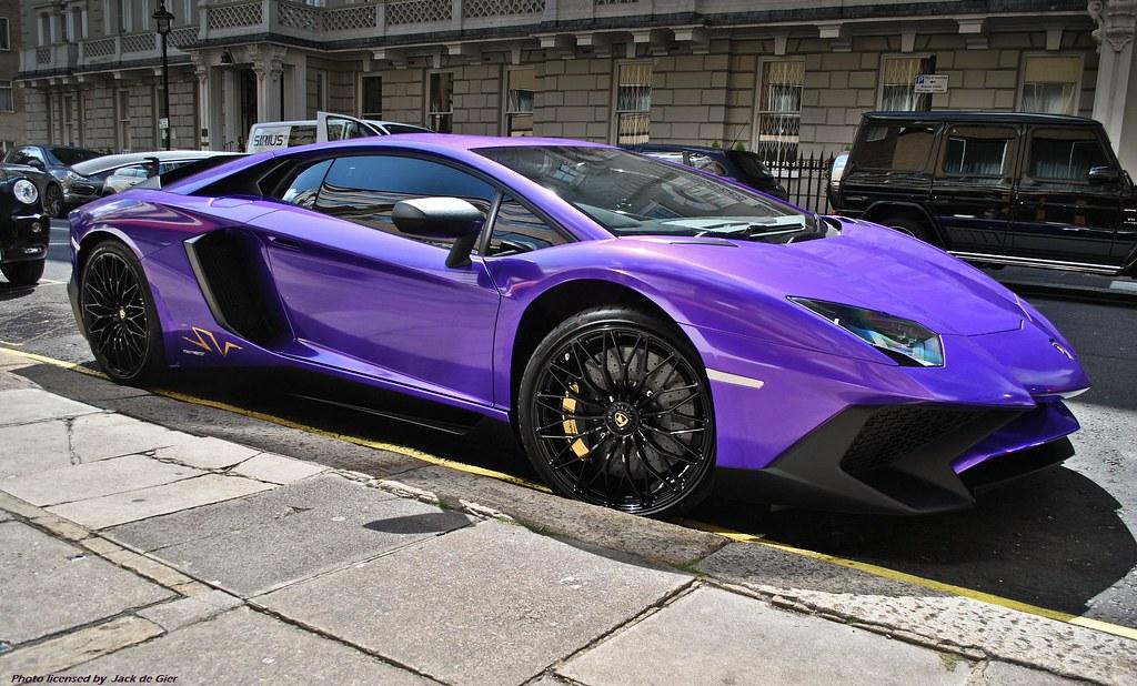 Lamborghini Aventador Sv The London Streets Turn Purple Flickr