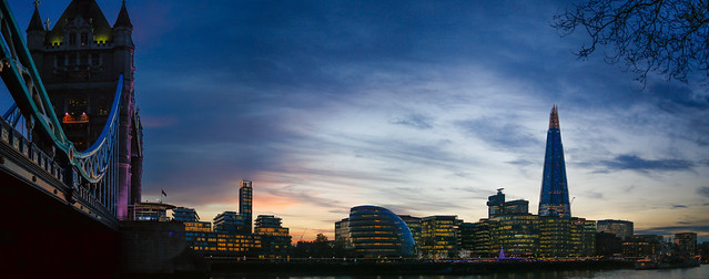 Sunset On The Two Towers by Simon Hadleigh-Sparks
