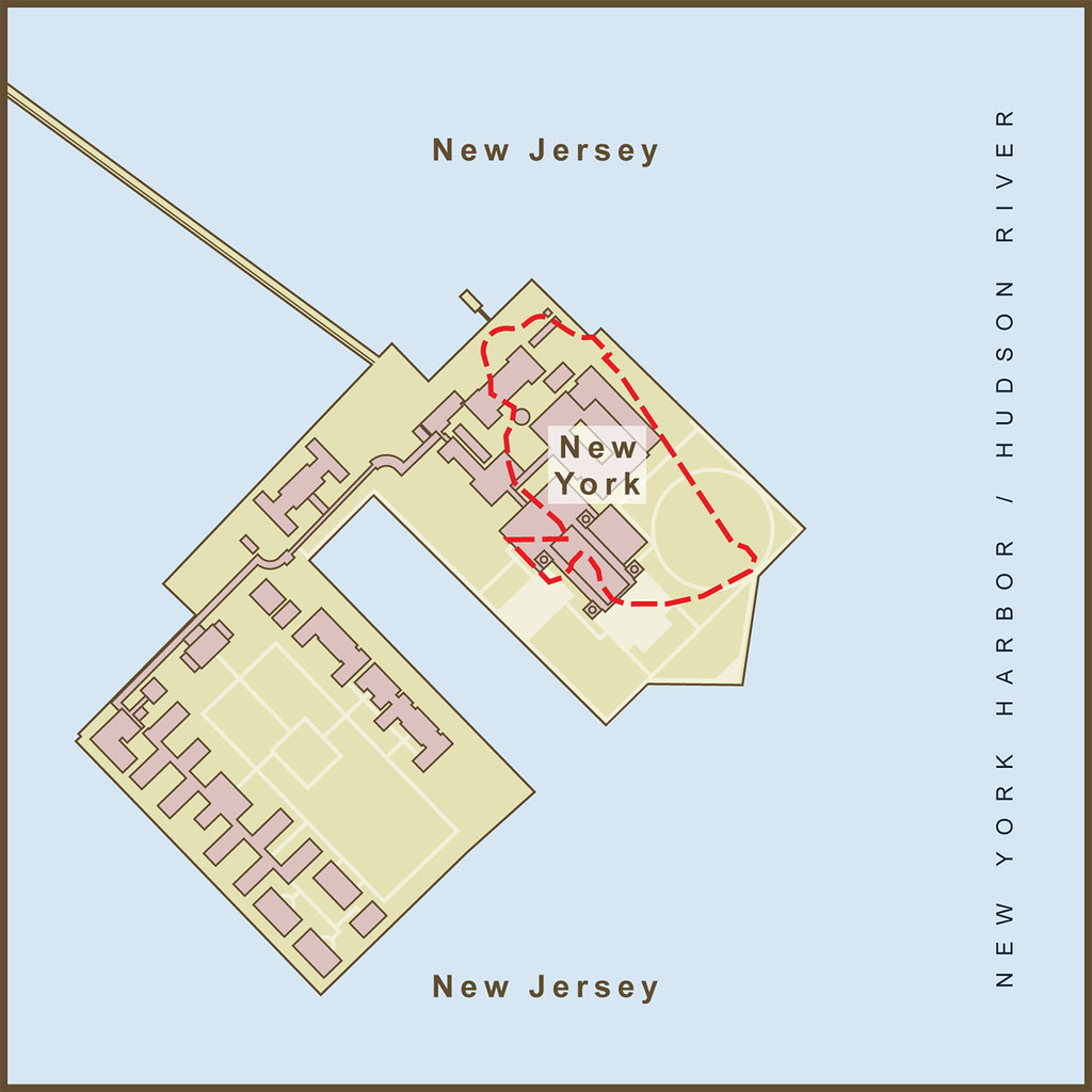 Map Of New York Islands.A Map Of The Border Between New York New Jersey On Ellis Flickr