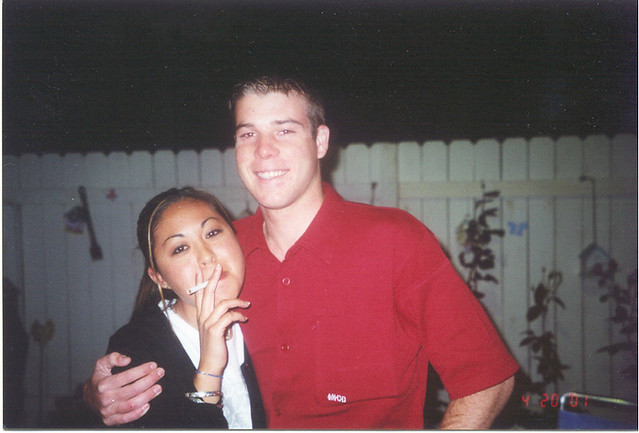 Cute preppie couple, April 20, 2001
