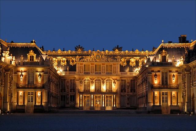 La Cour de Marbre et la Cour royale (Château de Versailles)