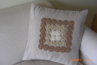 BEIGE PILLOW  IN CROCHET