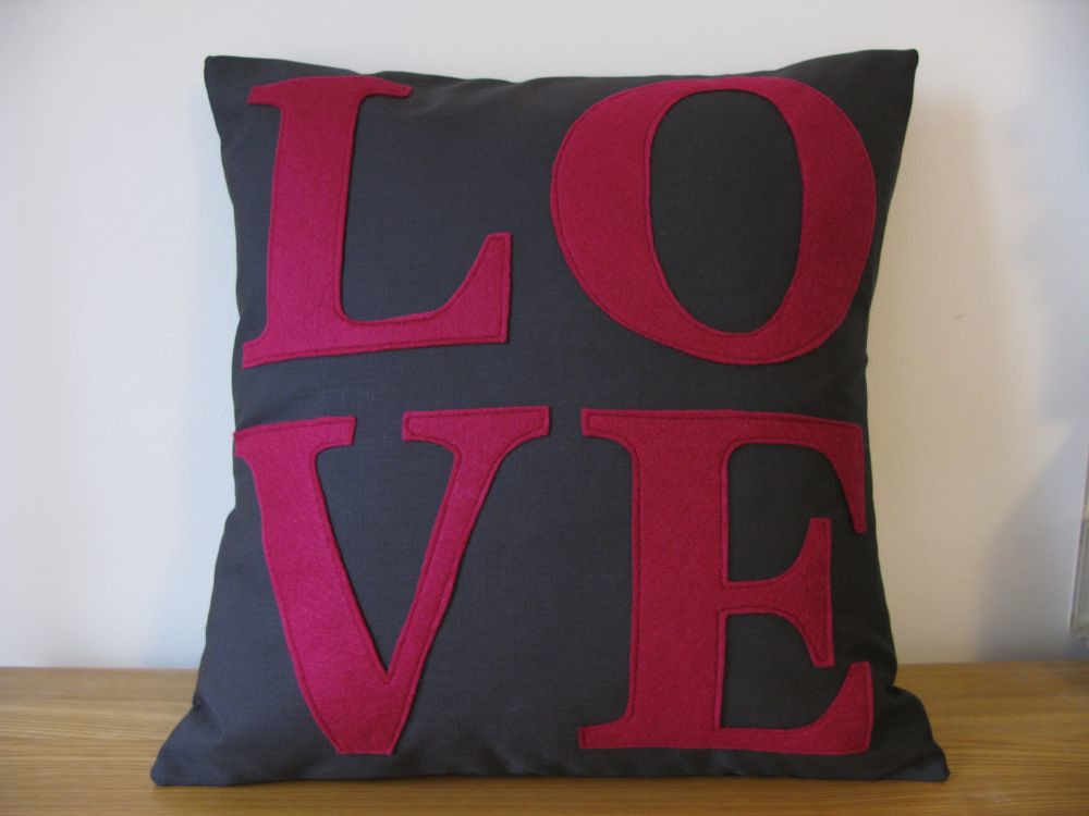Modern love applique pillow cushion cover with heart rate u flickr