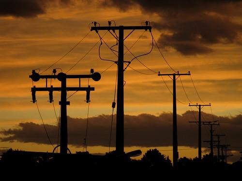 sunset newzealand silhouette nz powerpole gisborne eastcape campionroadgisborne
