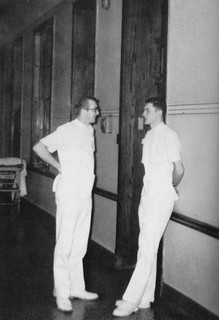 Alexian Brothers Hospital Student Nurses in hall of  old hospital 1963
