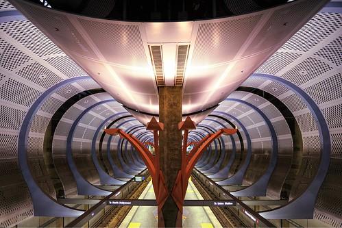 subway metro redline hollywoodhighland station geometry geometric losangeles hollywood la