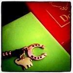 サンタさんからのプレゼント:)ピンクゴールドの馬蹄とイエローゴールドのぞうさん!色が違っても合うのね。カワイイ♡ ぞうさんすき。
