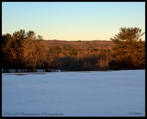 winter field sunrise maine softlight alfredmaine