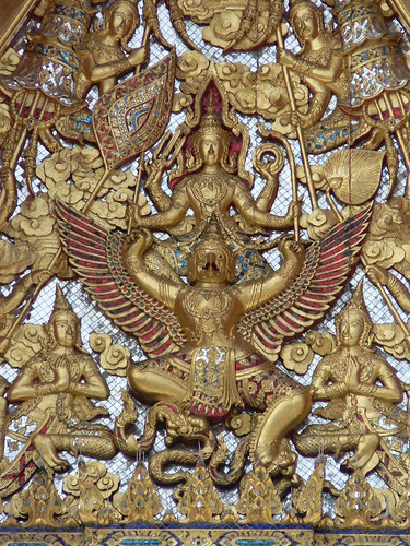 Roof decoration, Wat Benchamabophit, Bangkok | by James Preston