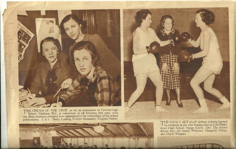 women's boxing in High School 1930's   The article details a…   Flickr