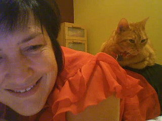 Me & Skype & My Comfy Cat - Daily Image 020