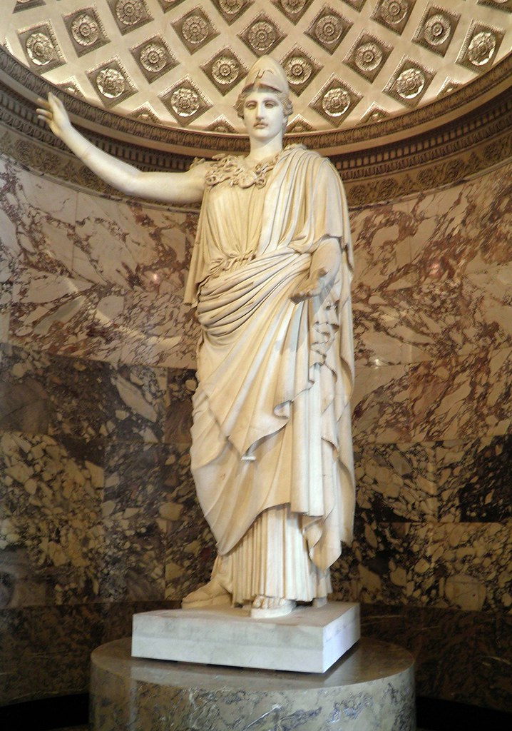 Athena Pallas Velletri Louvre Museum Material Marble