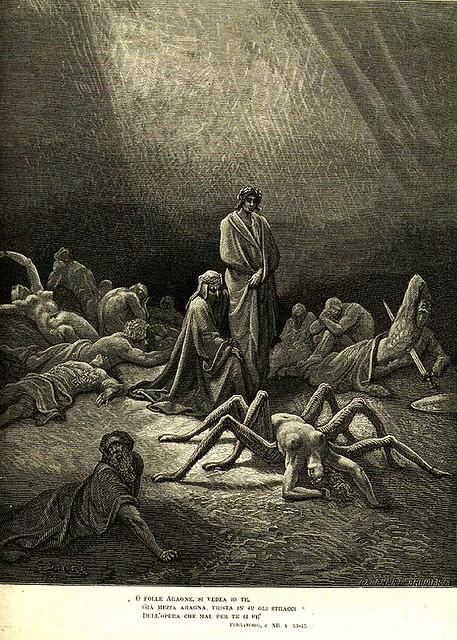 +1861 Aracne, Dante y Virgilio en los Infiernos
