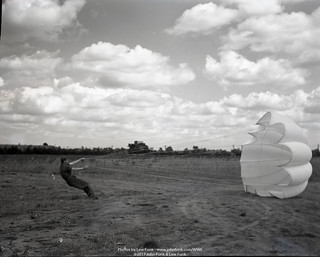 Donald Wick Playing with a parachute | by John Funk from Golden Colorado