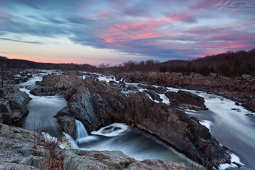 park trip pink sunset vacation clouds canon river landscape virginia waterfall dc washington rocks nps falls rapids va lee filters potomacriver manfrotto 1740l greatfallspark fairfaxcounty gnd greatfallsofthepotomacriver 5dmkii falllinerapids