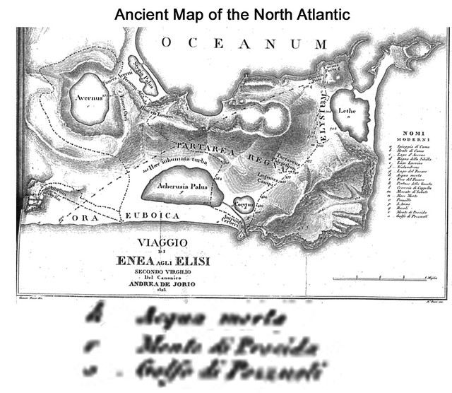 Oceanum, Ancient Map of the NorthAtlantic?  Mountain of Poseidon?  Gulf of Poseidon?