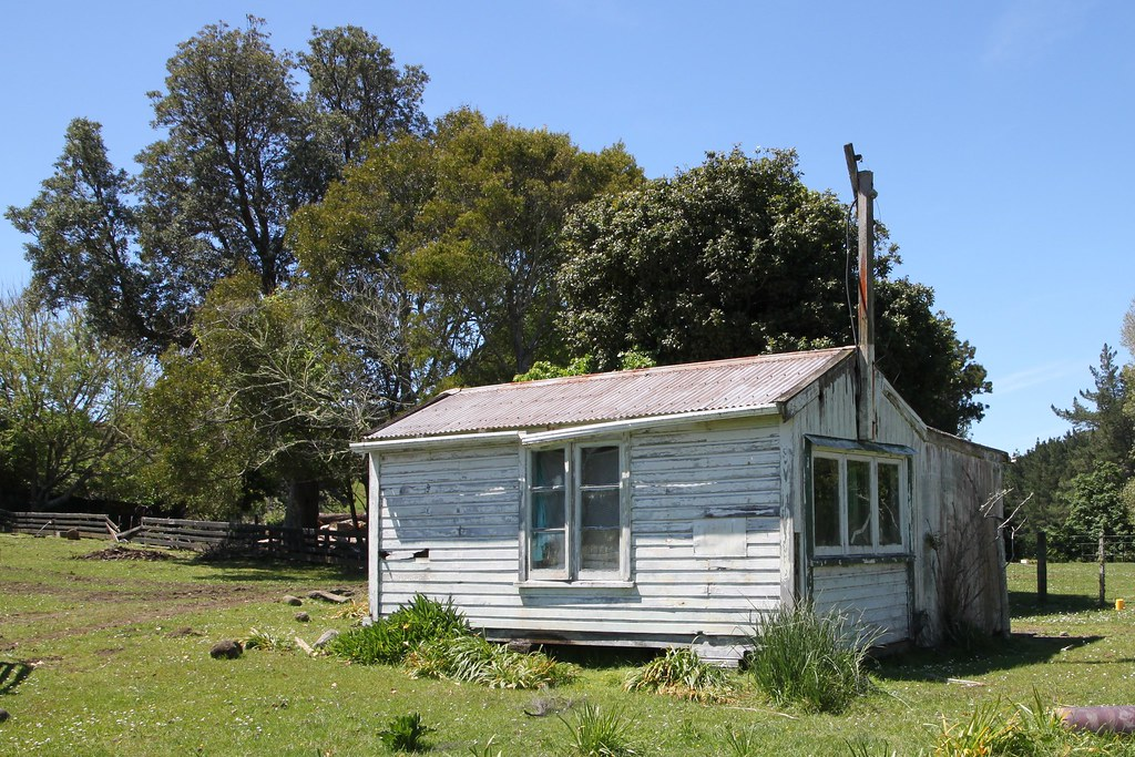 Old house - hut, Kawhia, Waikato, New Zealand