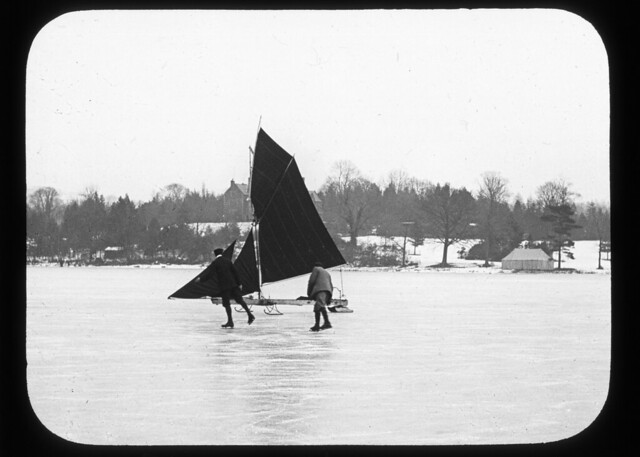 Ice Yacht on Windermere, 18th February 1895
