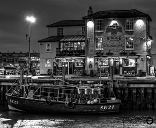 Bridge Tavern and Trawler   by Hexagoneye Photography