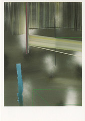 croxcard 90 mil ceulemans (2009) out of sight, out of time<br /> oil and spray paint on canvas 60x80cm