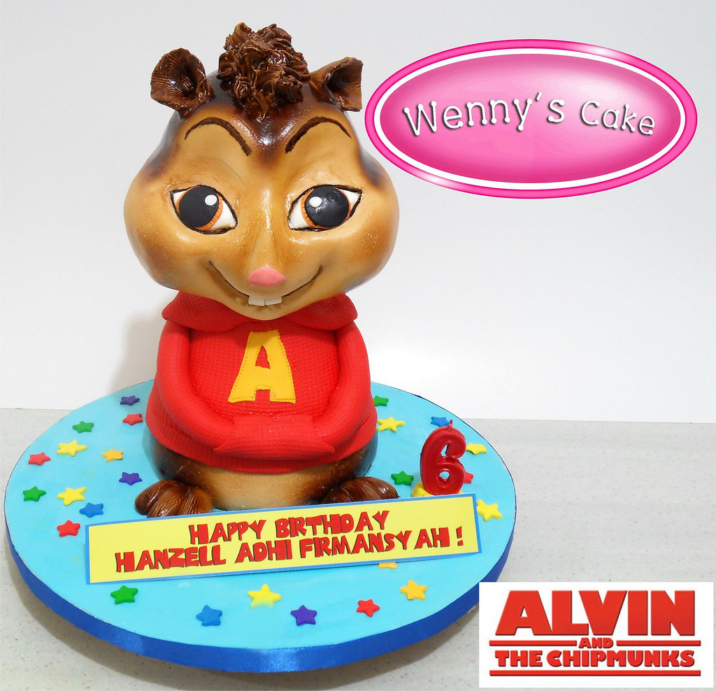 Astonishing Kue Tart 3 Dimensi Birthday Cakes 3D 5 Wennys Cake Flickr Funny Birthday Cards Online Alyptdamsfinfo