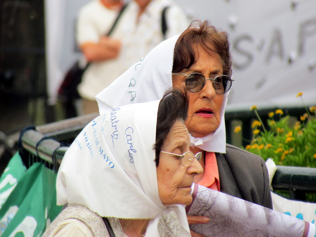 Demonstration of Mothers of the Plaza de Mayo - Spanish: Asociación Madres de Plaza de Mayo - Buenos Aires Argentina
