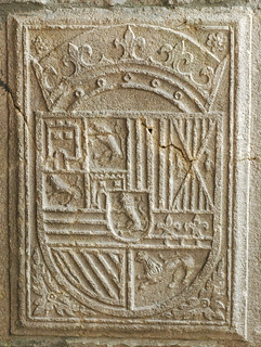 Blason du roi d'Espagne qui se trouvait sur la maison du roi à Orgelet
