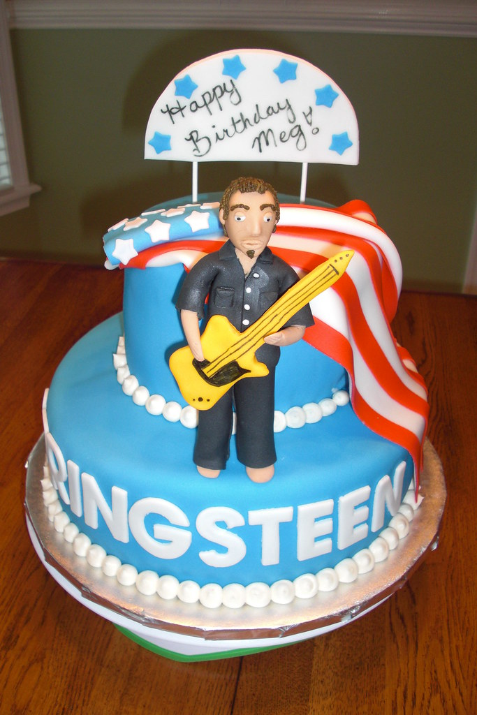 Stupendous Springsteen Birthday Cake Yellow Cake With Chocolate Icing Flickr Funny Birthday Cards Online Bapapcheapnameinfo