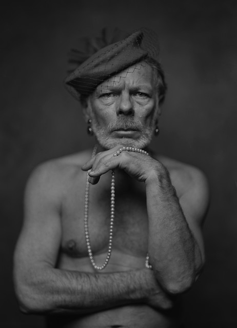 Man with pearls