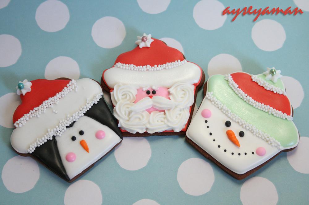 Christmas Penguin Santa Snowman Cookies Christmas Cupca Flickr