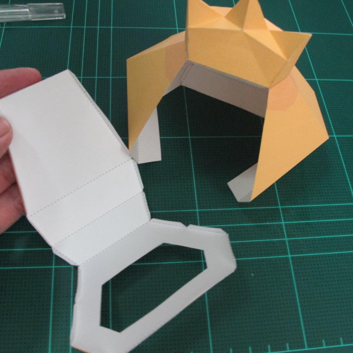 วิธีทำโมเดลกระดาษตุ้กตาสัตว์เลี้ยง หยดทองจากเกมส์ คุกกี้รัน (LINE Cookie Run Gold Drop Papercraft Model - クッキーラン  「黄金ドロップ」 ペーパークラフト) 016