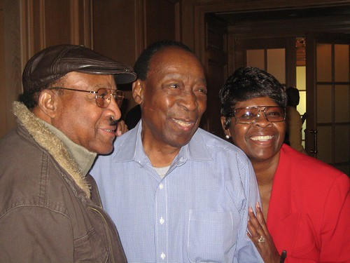 Robert Parker, Dave Bartholomew, Irma Thomas. Photo by Sally Young.