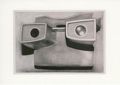 croxcard 92 rik de boe (2008) viewmaster<br /> charcoal on zerkallpaper 76,5x53,5cm