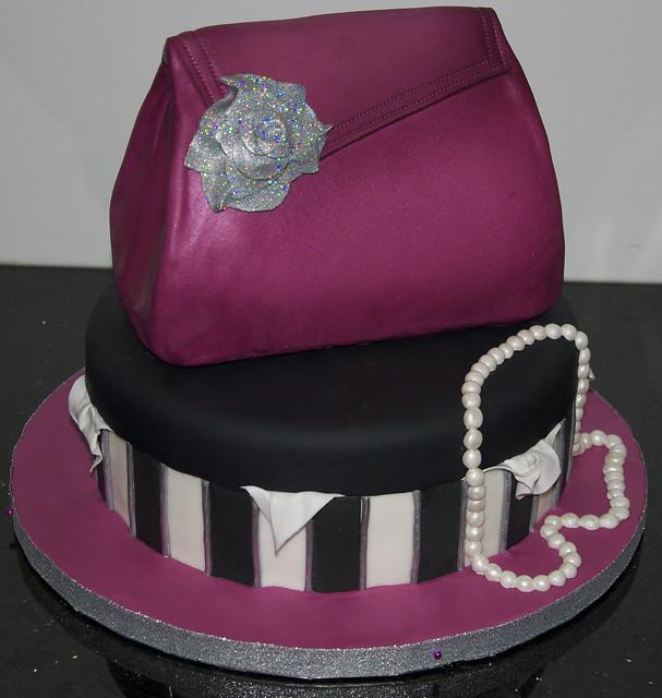glamour purse cake