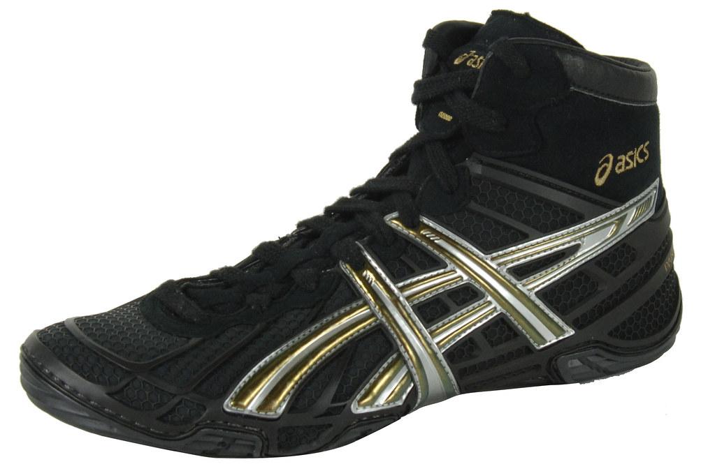 8e22b4920f6d8 Asics Dan Gable Ultimate 2 Wrestling shoe in Silver and Bl…